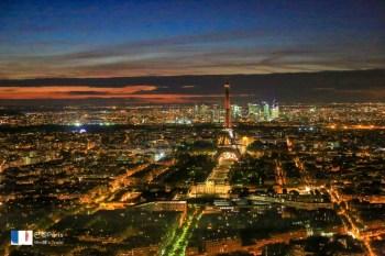 【巴黎】蒙帕納斯大樓景觀台夜景:市區最高Tour Montparnasse,璀璨巴黎盡收眼底