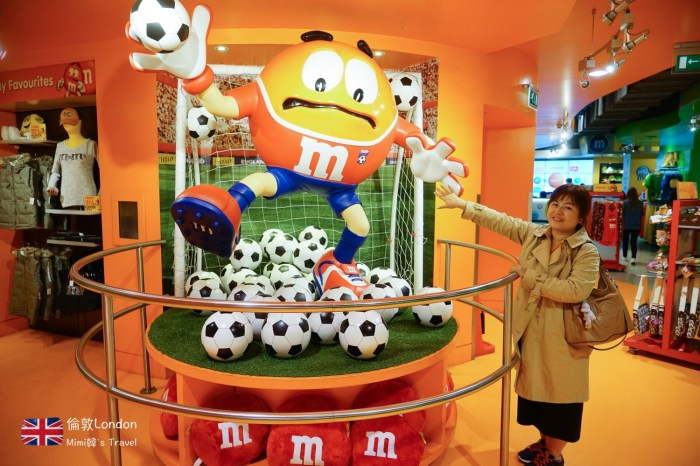 【倫敦景點】M&M`s World:倫敦必逛超可愛M&M巧克力專賣店,MM迷必訪!