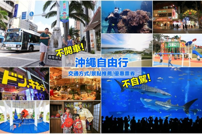 沖繩自由行「不自駕」旅遊攻略!一篇搞懂不開車怎玩沖繩,交通住宿景點觀光巴士彙整