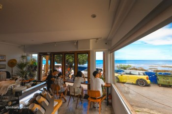 墾丁景點|海龜咖啡(有民宿):萬里桐秘境海景咖啡廳!撿拾一袋海漂,海龜請你喝咖啡