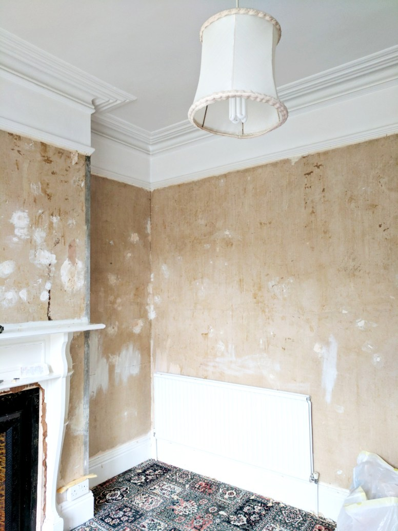 All the wallpaper now gone