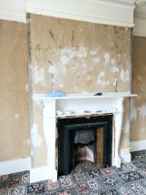 Uncovered original Edwardian fireplace