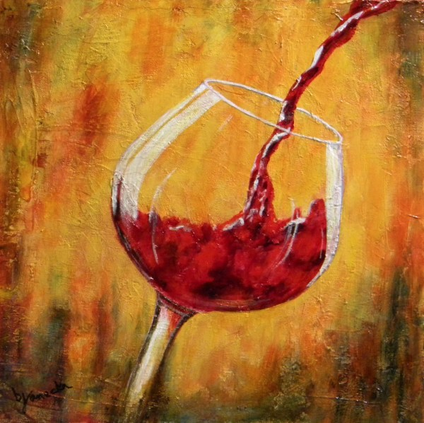 Wine Acrylic Painting