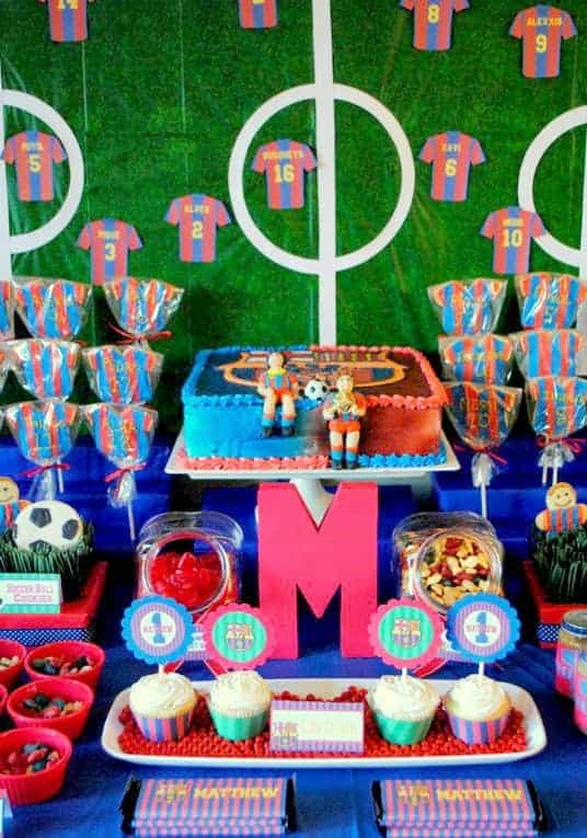 Soccer Party Matthews Team Barcelona Birthday Mimis