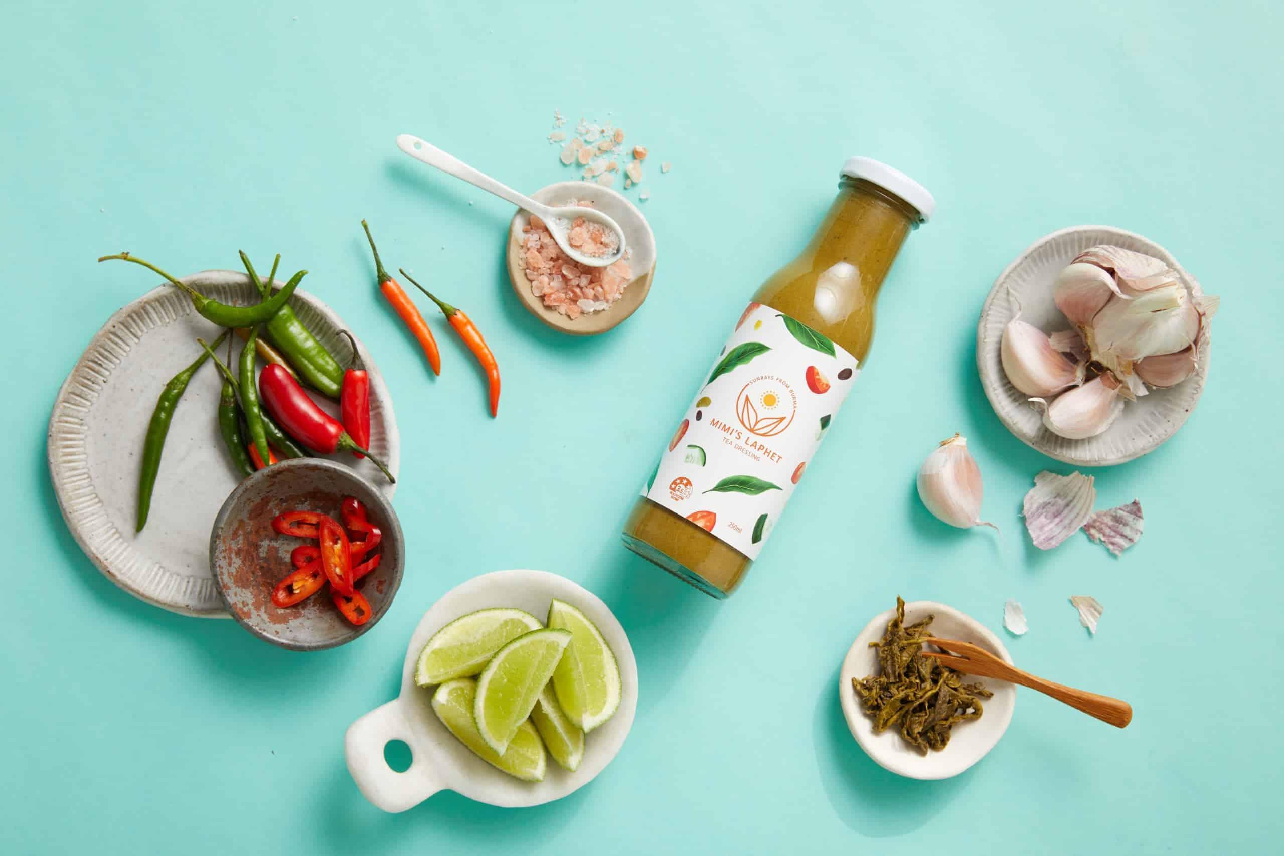 Natural, vegan, gluten free tea dressing - Mimi's Laphet