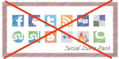 Social Media Icons - Legally! (3/3)