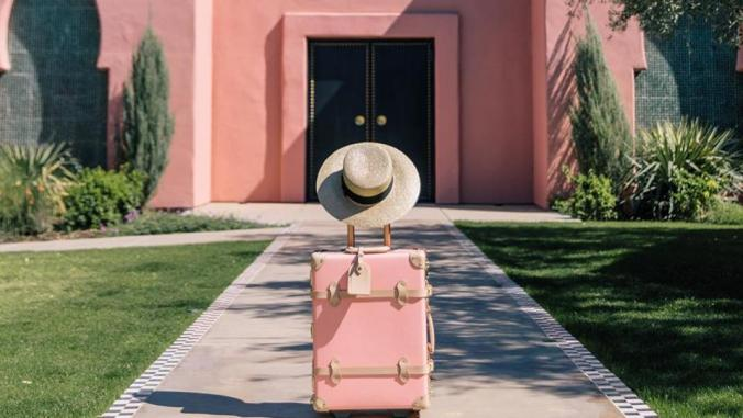 pink Mexico luggage