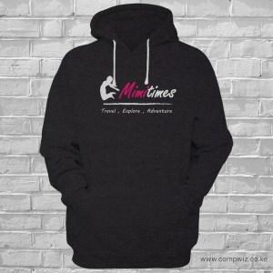 branded travel hoodie