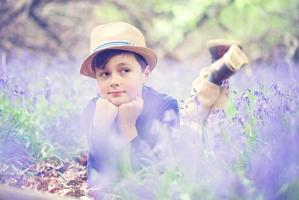 Boy in the bluebells by Mimi VP