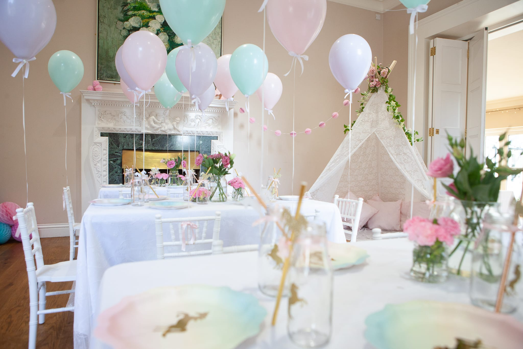 Room layout for children's party