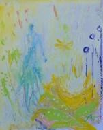 A day in wonderland, 30x24cm Acrylic on paper, SEK4000,00