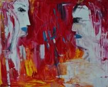 Cutting through cords, 60x50cm Acrylic on canvas, SEK 6000,00