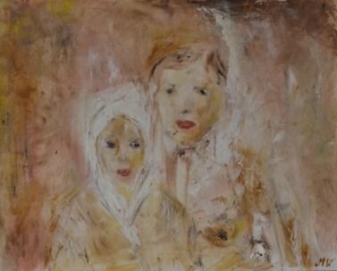Portrait, 36x44cm Framed oil on panel, SEK 8000,00