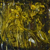 Yellow in the dark, 15x15cm Oil on canvas, SEK 3000,00