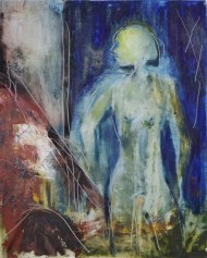 Etheric body, 30x40cm Oil on panel, SEK 5000,00