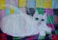 24x34cm Pastel on paper in A3 carboard passepartout, SEK 4000,00
