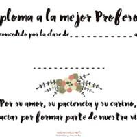 DIPLOMA PARA LA MEJOR PROFESORA - FREEBIE!