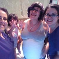 Molde de la barriga del embarazo en escayola