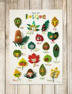 Poster hojas del bosque de Wenyuri