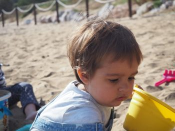 En la playa al lado del albergue