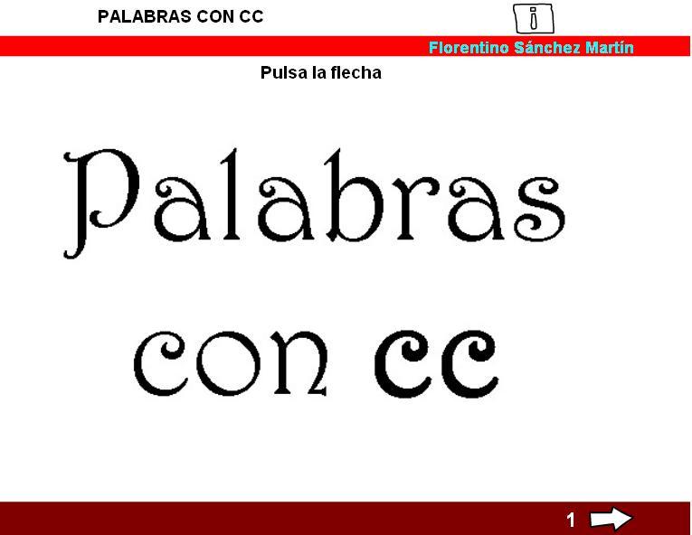 Resultat d'imatges de palabras con cc