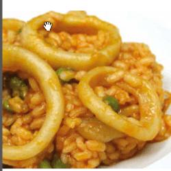 arroz con calamares - Receta del arroz con calamares fácil