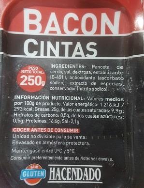 cintas de bacon min - 05 Mi desayuno cetogénico. Empiezo el reto ceto.