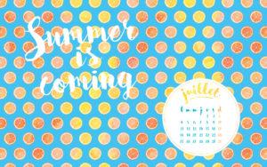 Calendrier de juillet freebies et printables en A4