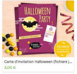 Invitation halloween téléchargeable