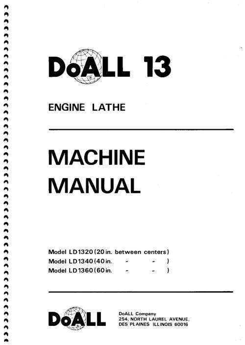 small resolution of doall 13 lathe wiring schematic