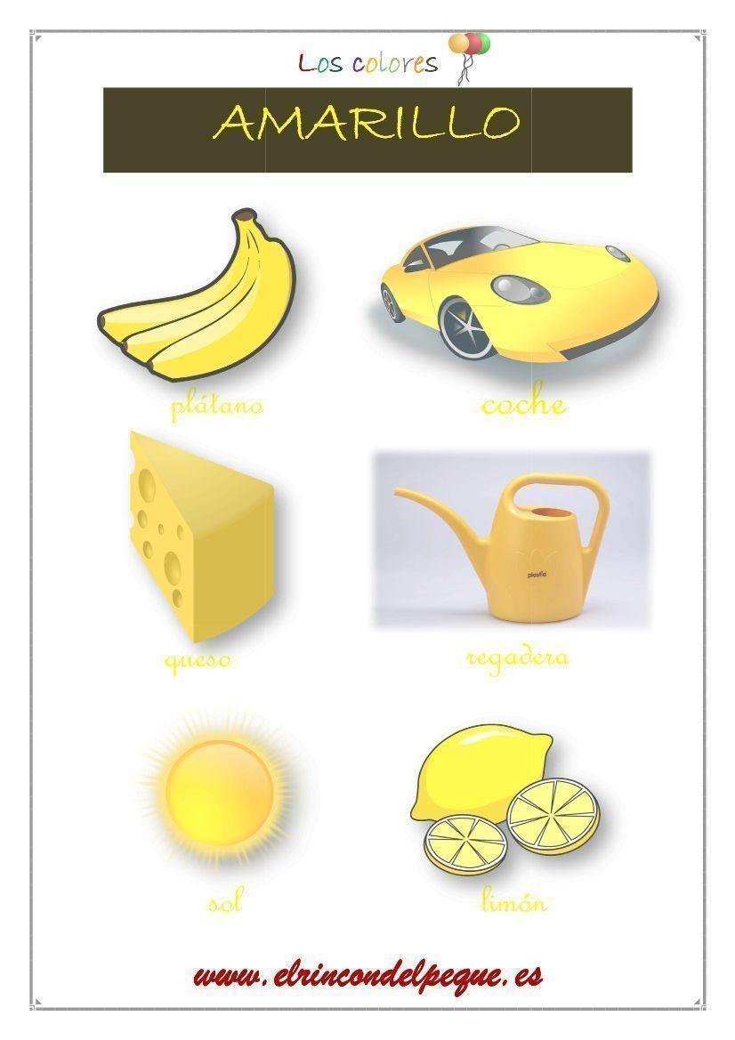 Aprender los colores: fichas imprimibles