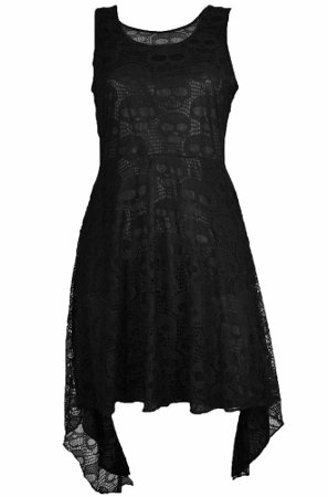 Black dress with skulls by Poizen Industries