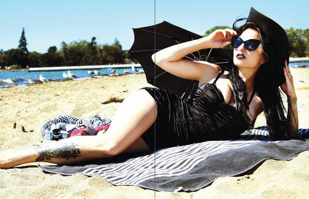 Gótica en la playa