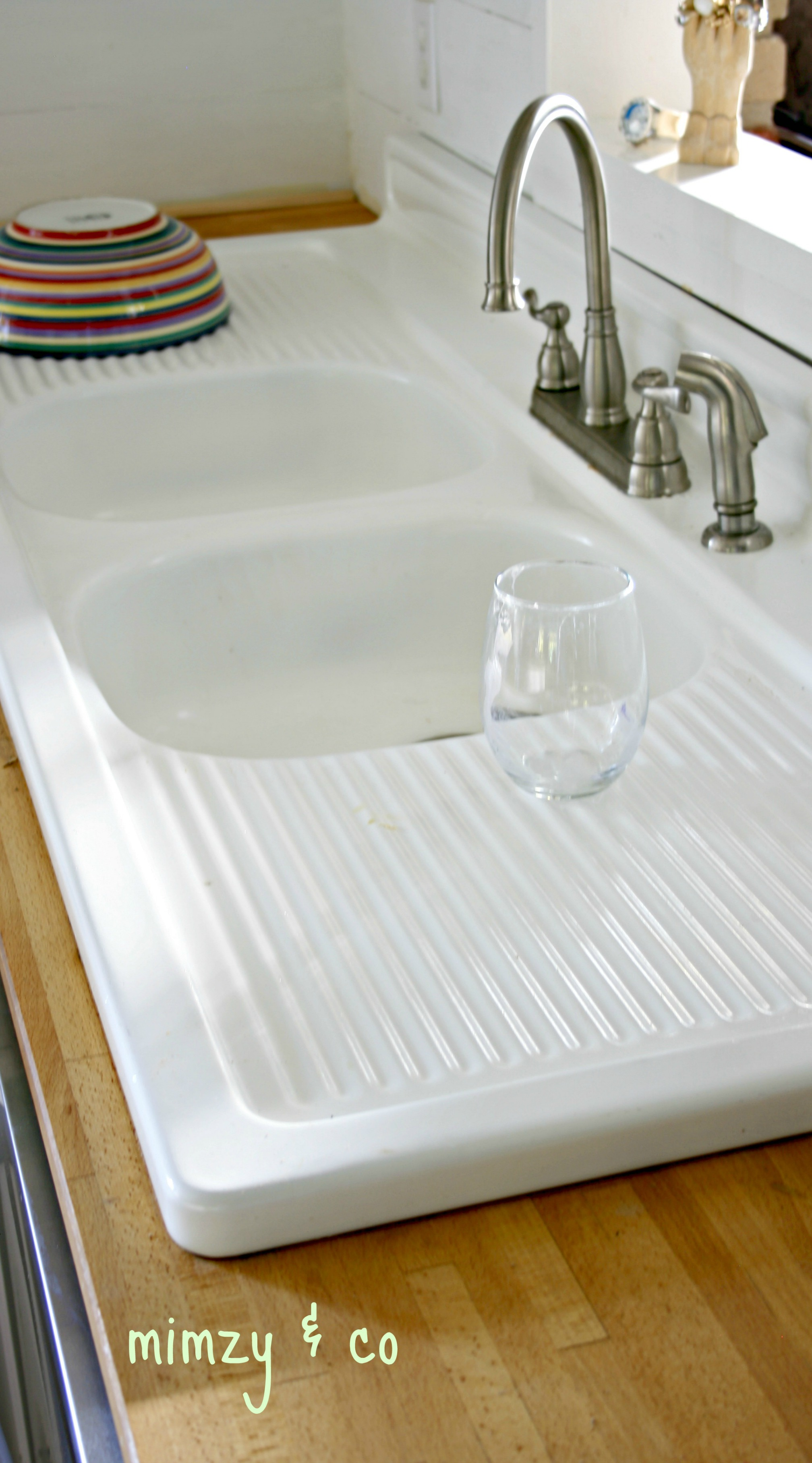 cast iron kitchen sinks outdoors how i refinished my vintage sink mimzy company refinished5