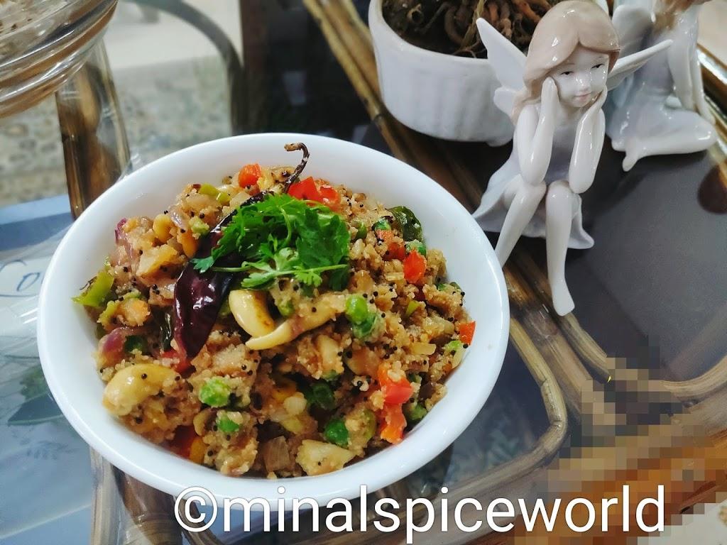Three Grain Upma (tasty and healthy)|पौष्टिक उपमा ।
