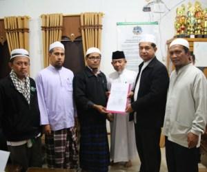 Saat penandatangan MoU dengan Majelsi Agama Islam Thailand. Photo BY : Hadis/MINA