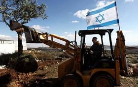 ISRAEL RATAKAN LAHAN PERTANIAN PALESTINA DI SALFIT