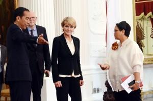 Bahas Rencana Kunjungan ke Australia, Menlu Julie Bishop Temui Presiden Jokowi