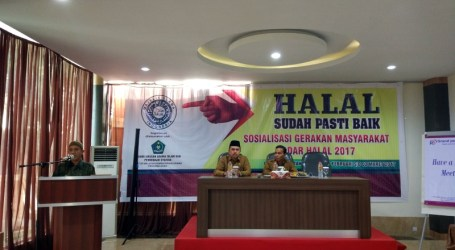 "Sosialisasi Halal dengan Thema ""Halal Sudah Pasti Baik"" di Aceh"