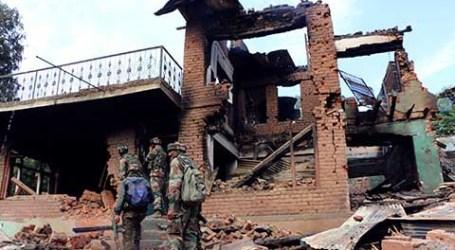 Pasukan India Ledakkan Lima Rumah untuk Bunuh Pejuang Kashmir