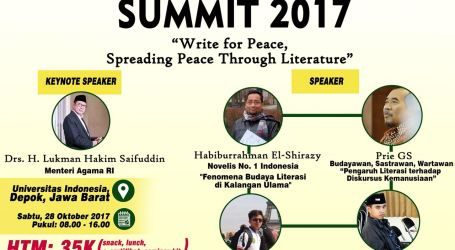 """Santri Writer Summit"" Ajak Santri Sebarkan Kedamaian Lewat Literasi"