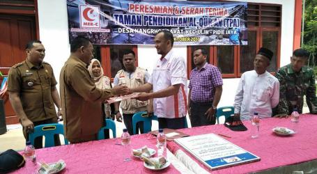 MER-C Resmikan dan Serah Terima TPA di Pidie Jaya