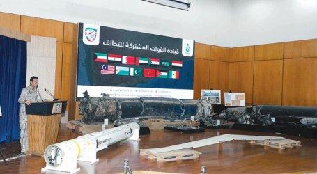Koalisi Arab Pamerkan Senjata-senjata Houthi Berlabel Iran