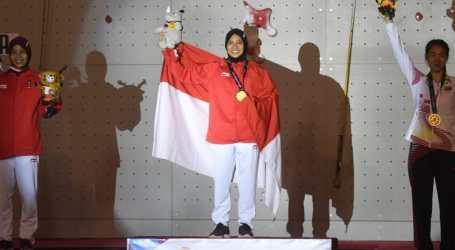 Indonesia Raih Medali Emas di Panjat Tebing