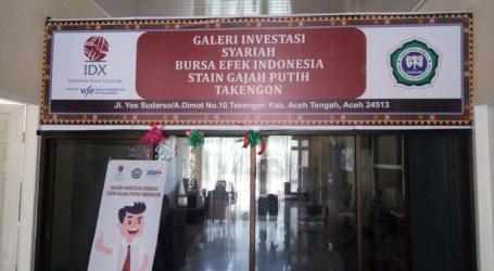 STAIN Gajah Putih Takengon Resmikan Galeri Investasi Syariah