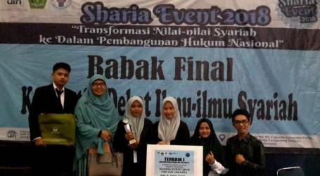IAIN Batusangkar Juara I Debat Syariah Tingkat Nasional
