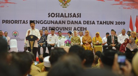 Jokowi Ajak Masyarakat Aceh Rawat Perdamaian
