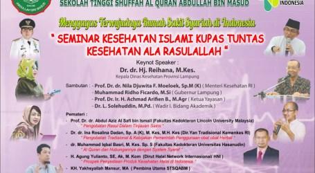 Menkes RI Akan Buka Seminar Kesehatan Ala Rasulullah Oleh Shuffah Al-Quran