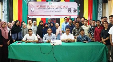 Fakultas Dakwah dan Komunikasi UIN Ar-Raniry Adakan Klinik Jurnalistik Angkatan II
