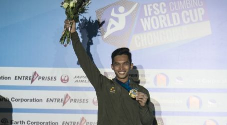 Indonesia Kembali Juara di IFSC Climbing Chongqing China